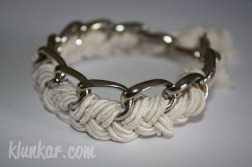 Flechtarmband Weiß