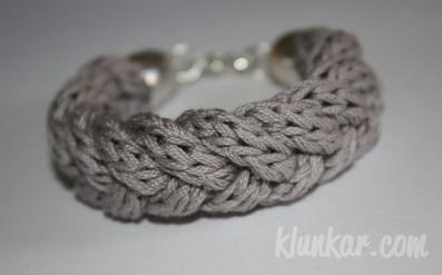 Flechtarmband Grau