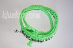 Wickelarmband und Kette Neongrün