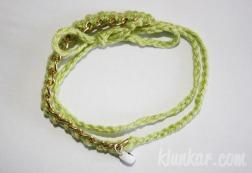 Häkelarmband Pastellgrün
