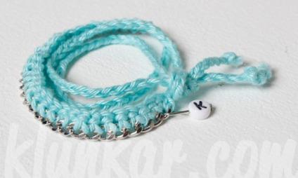 Wickelarmband und Kette Türkis