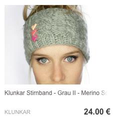 Stirnband Hellgrau