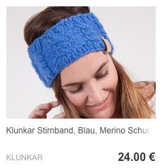 Stirnband Kornblumenblau