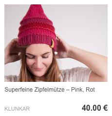 Zipfelmütze Pink, Rot