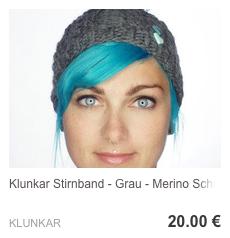 Stirnband Mausgrau