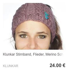Stirnband Flieder