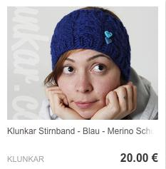 Stirnband Blau