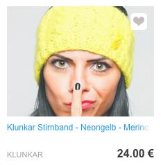 Stirnband Neongelb