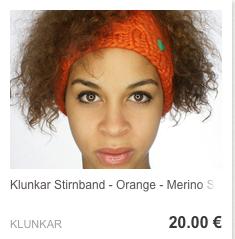 Stirnband Orange
